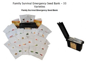 family survival emergency seed bank